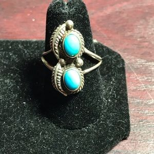 Beautiful turquoise and sterling ring.